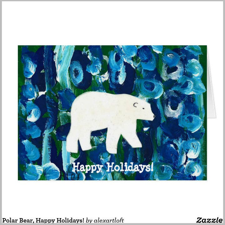 polar-bear-holiday-note-card-template