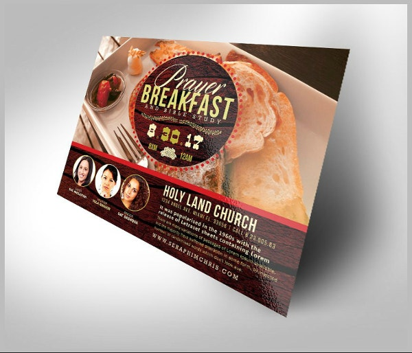 prayer breakfast horizontal flyer template