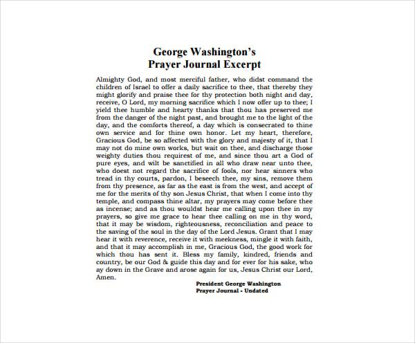 Prayer Journal Entry