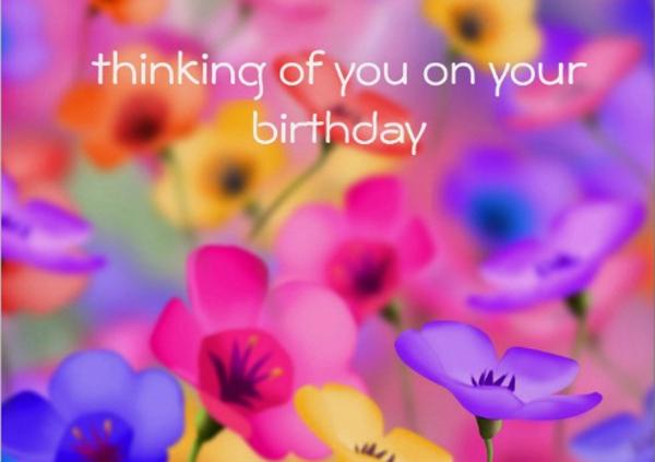 Pretty Floral Birthday Card