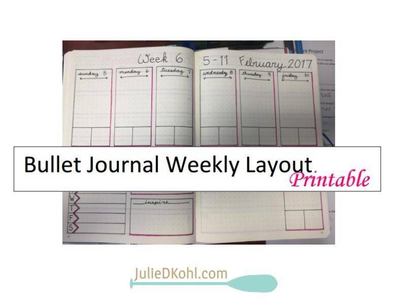 Printable Bullet Journal Weekly Layout
