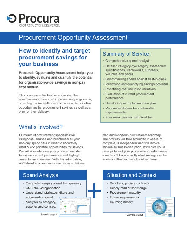 Procurement Opportunity Assessment