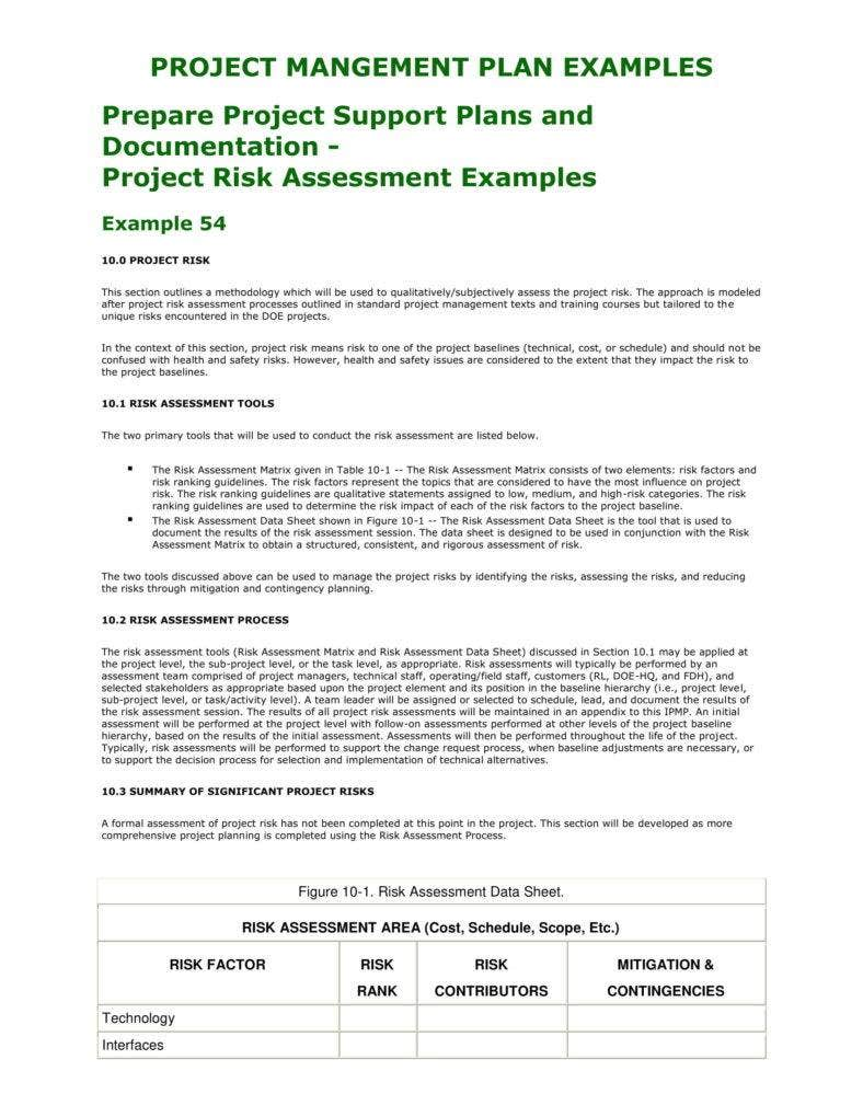 project risk assessment template 788x1020