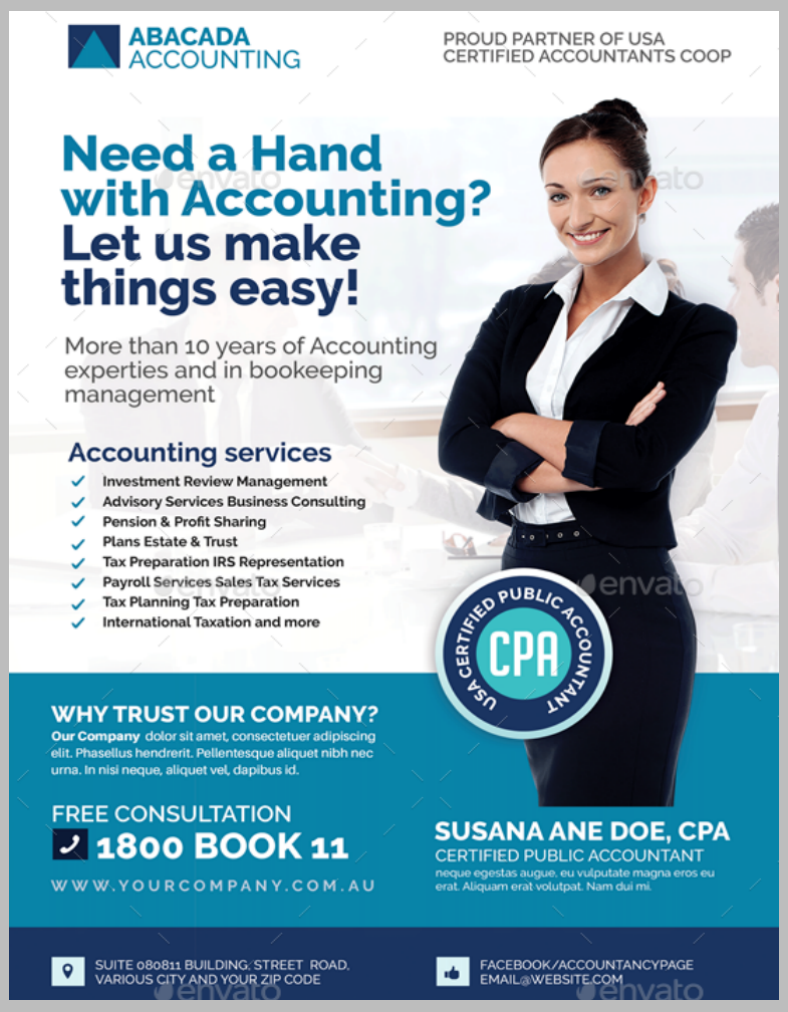 13 accounting and bookkeeping service flyer designs for Free bookkeeping brochure templates