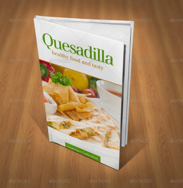 quesadilla food book cover template