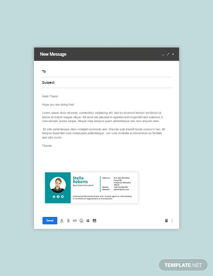 real estate consultant email signature template