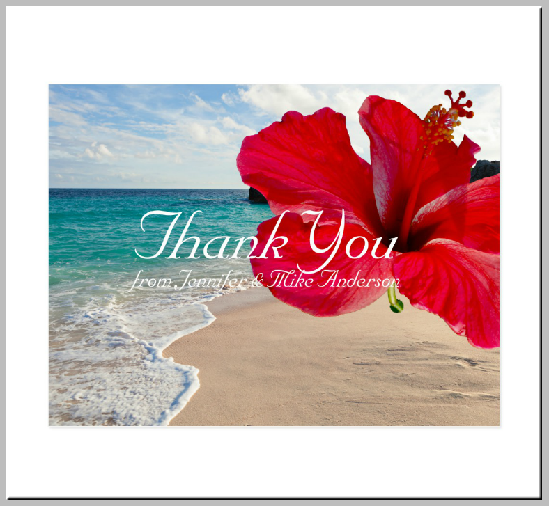 Mesmerizing Beach View Thank You Card