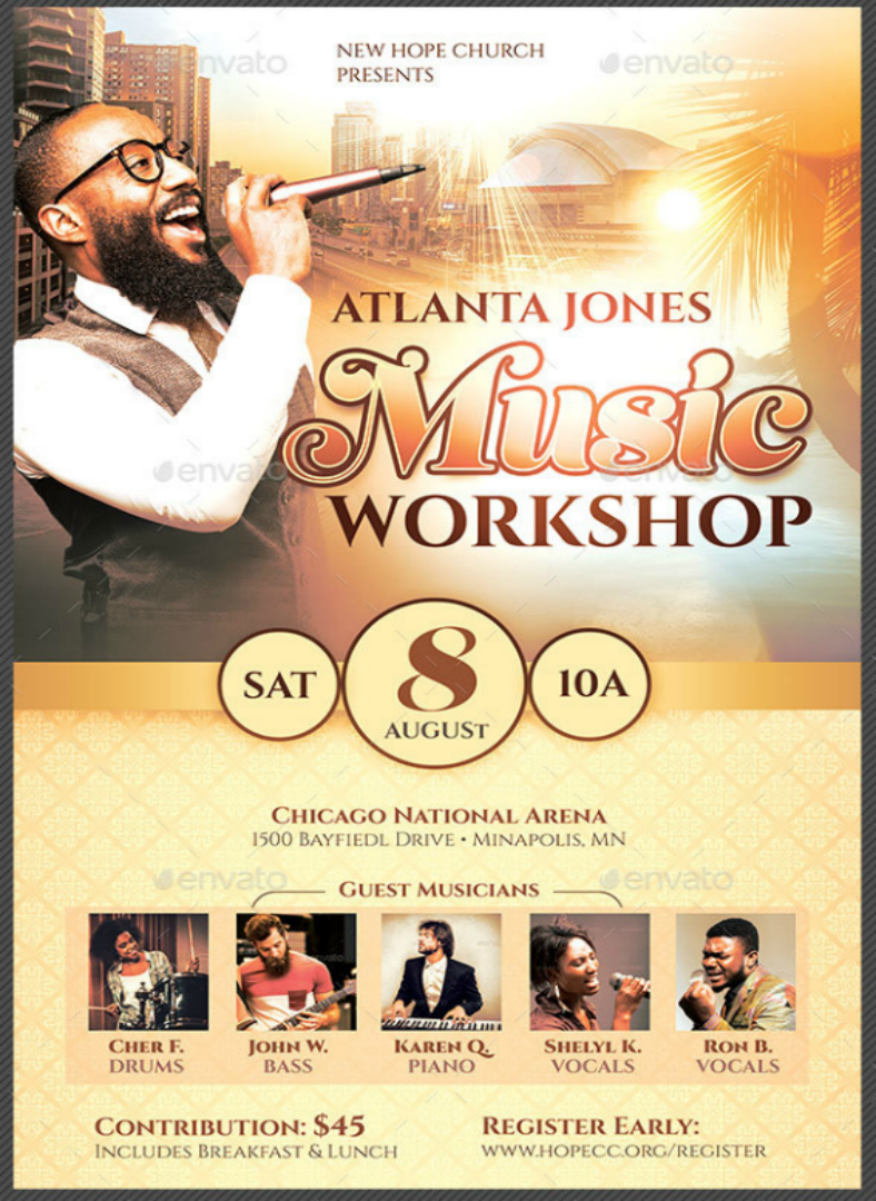 14 workshop flyer designs templates psd ai free premium religious music workshop flyer saigontimesfo