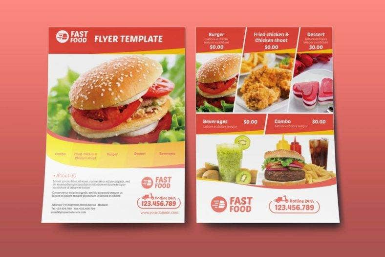 Restaurant Chicken Food Flyer
