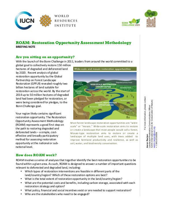 restoration opportunity assessment methodology1