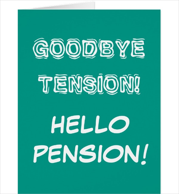 Retirement Goodbye Card Template