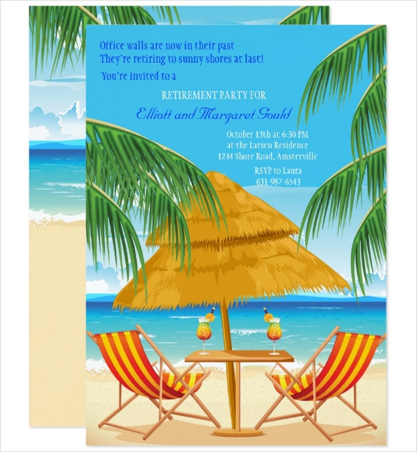 Retirement Party Paradise Invitation Template
