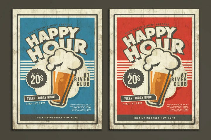 retro-happy-hour-flyer-menu-template