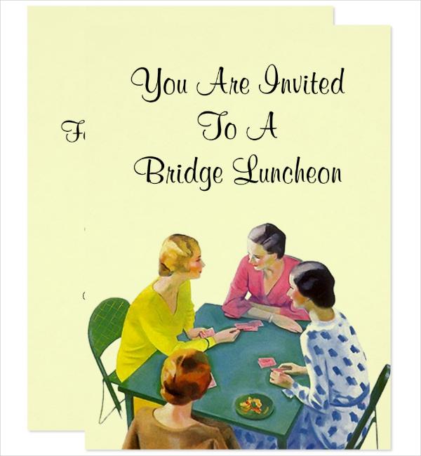 Retro Printable Lunch Invitation Template