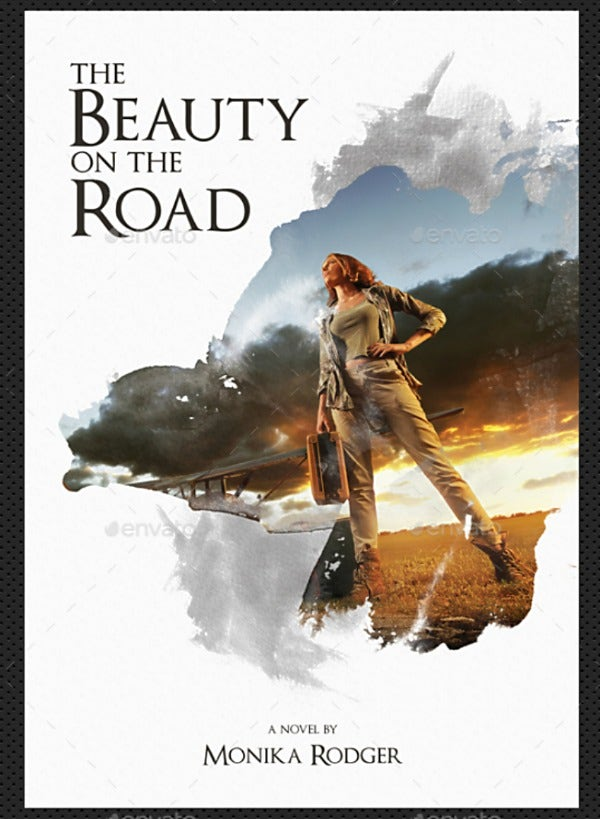 Road Beauty Creative Book Cover Template