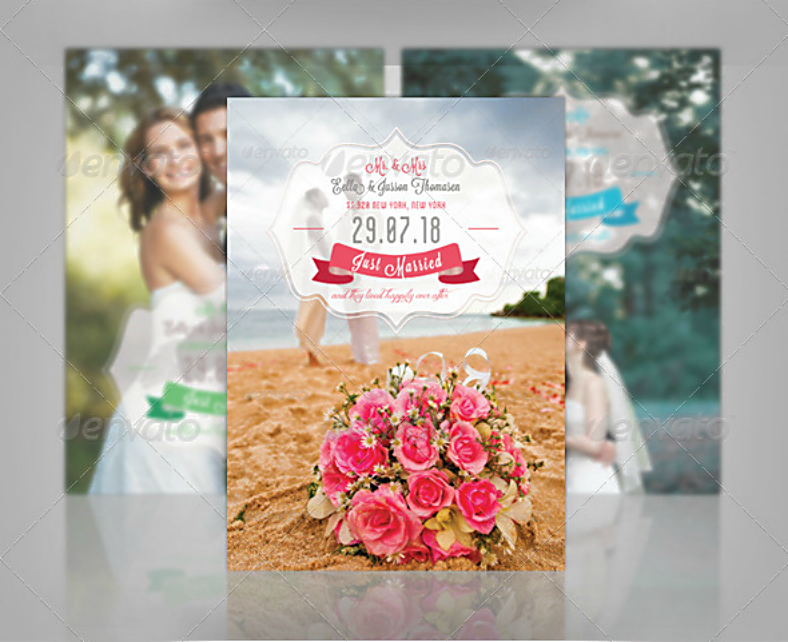 Romantic Wedding Party Announcement Template