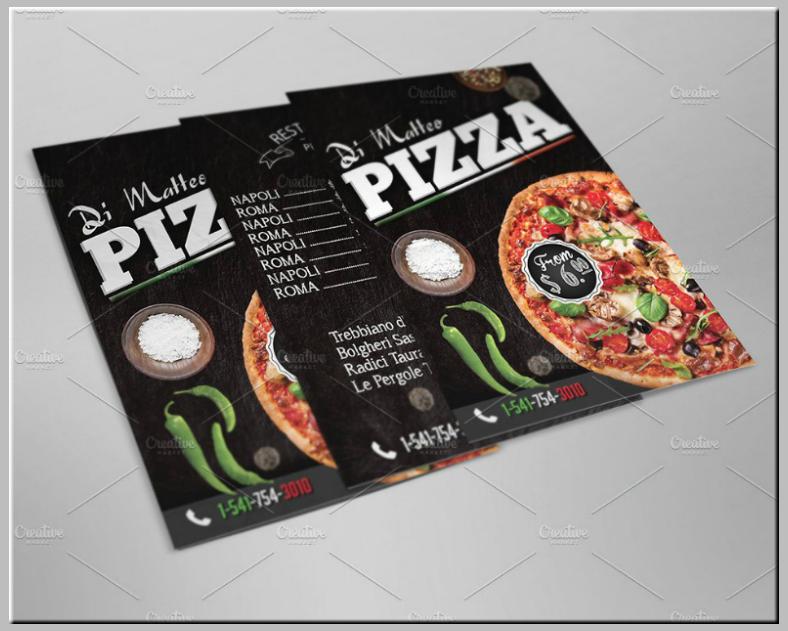 rustic chalkboard italian pizza menu template 788x631