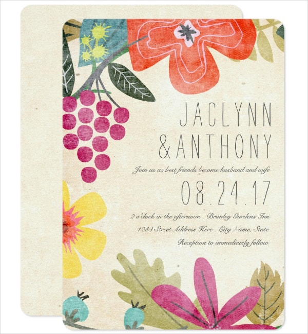 Rustic Paradise Invitation Template