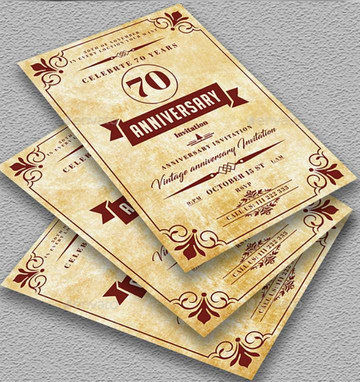 32+ 50th Wedding Anniversary Invitation Designs & Templates - PSD