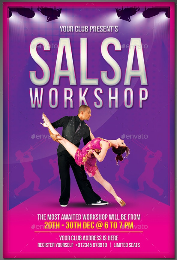 Salsa Dance Workshop Flyer