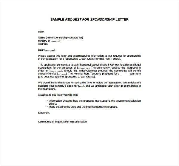 2 sponsorship request letter templates pdf free premium templates 2 sponsorship request letter templates pdf altavistaventures Images