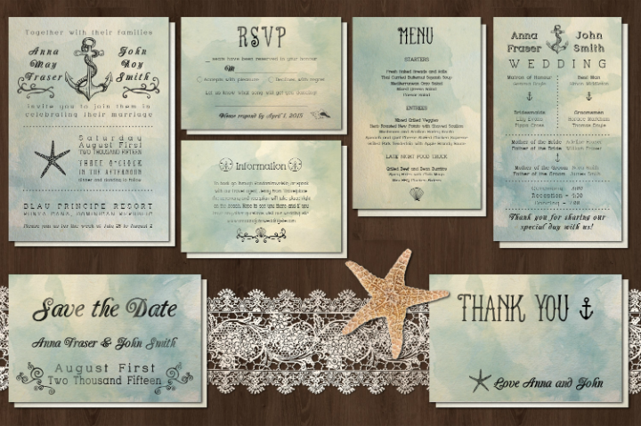 seashell-romantic-wedding-invitation-template-pack