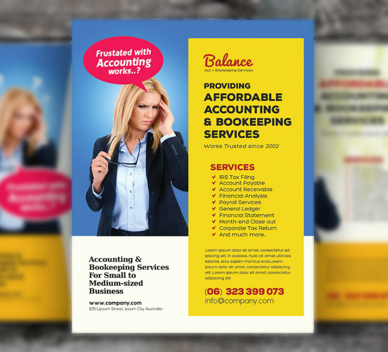 Simple Accounting Services Flyer Template
