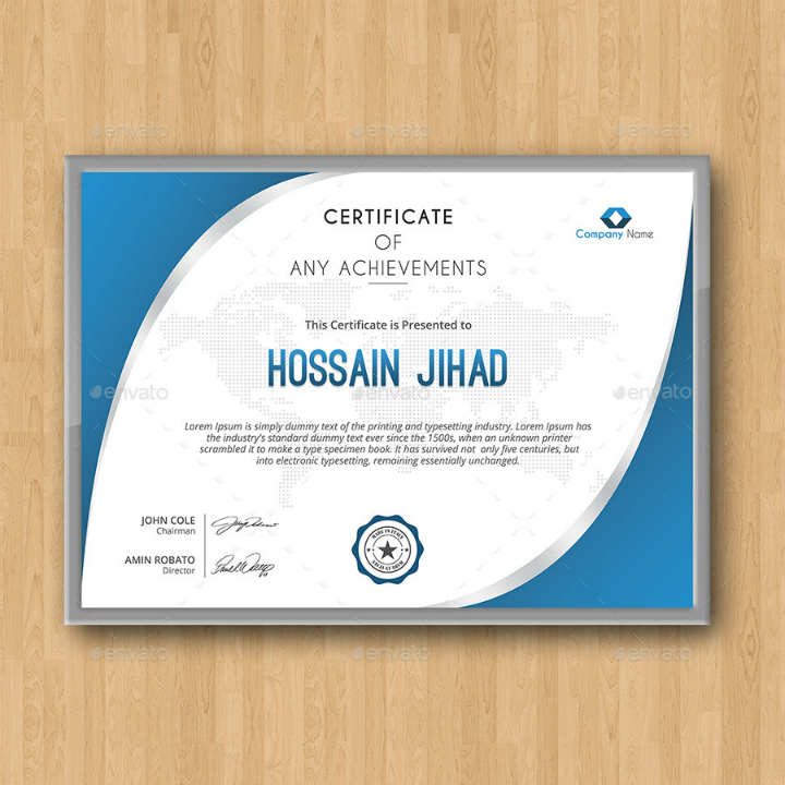 simple achievement degree certificate template