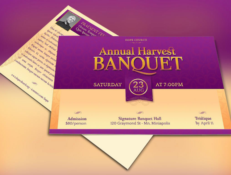 Simple Banquet Invitation Template