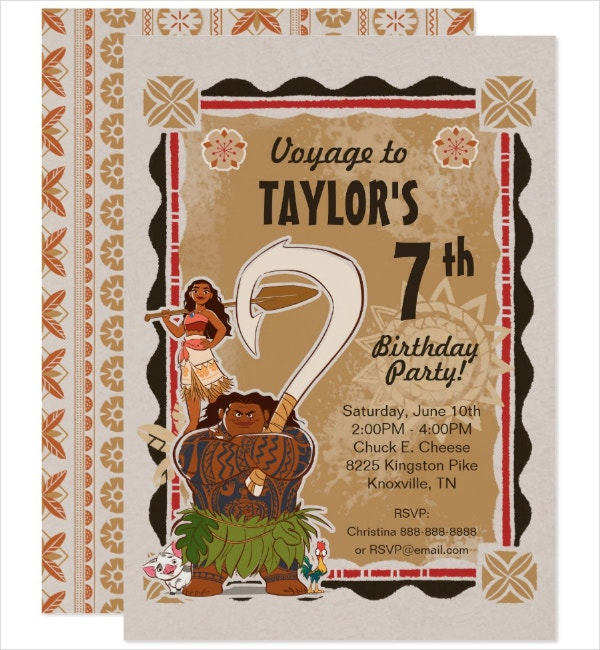 simple birthday tribal invitation template