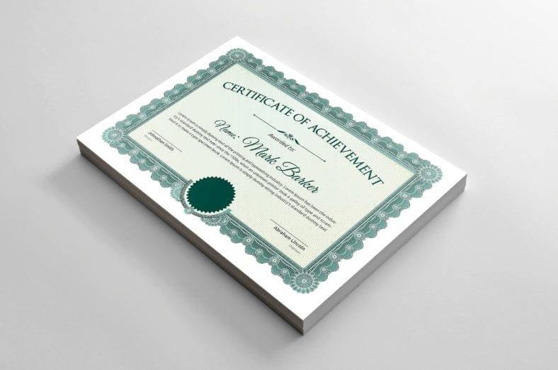 simple certificate 788x522
