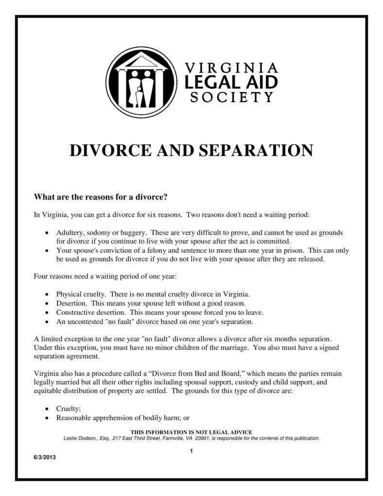 Simple Divorce Agreement Form