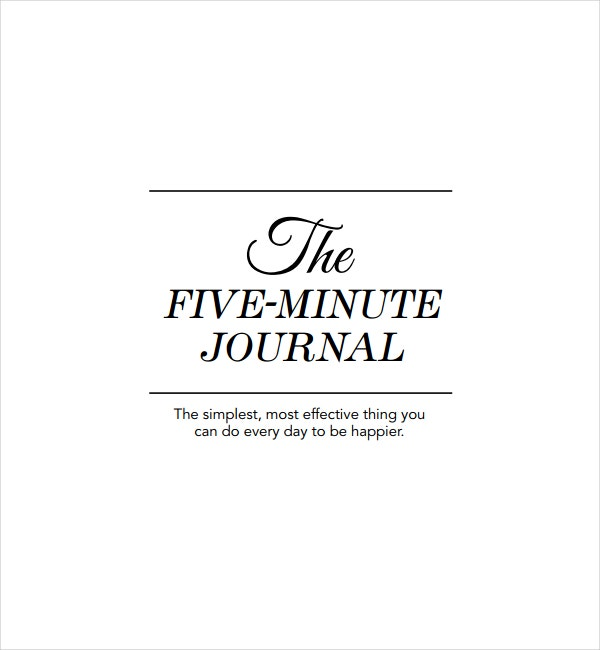 Simple Five Minute Journal Template