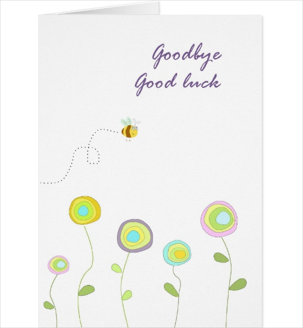 Simple Goodbye Card Template