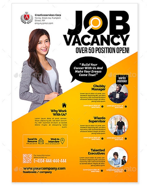 Simple Job Vacancy Flyer Template