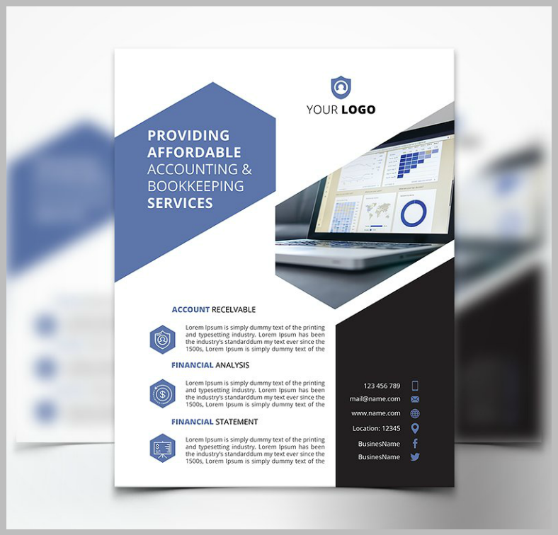 Simple Modern Accounting Flyer Template