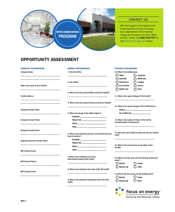 simple opportunity assessment