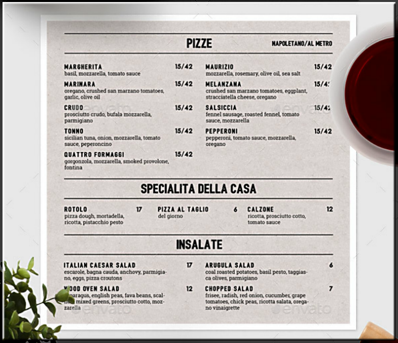 simple typographic italian pizza menu template 788x680