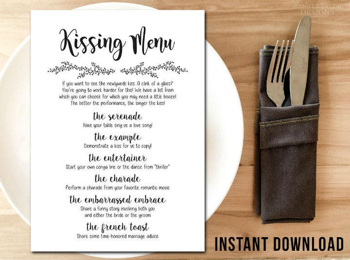 simple-wedding-kissing-menu-printable-template