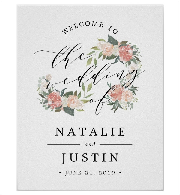 simple welcome signage template