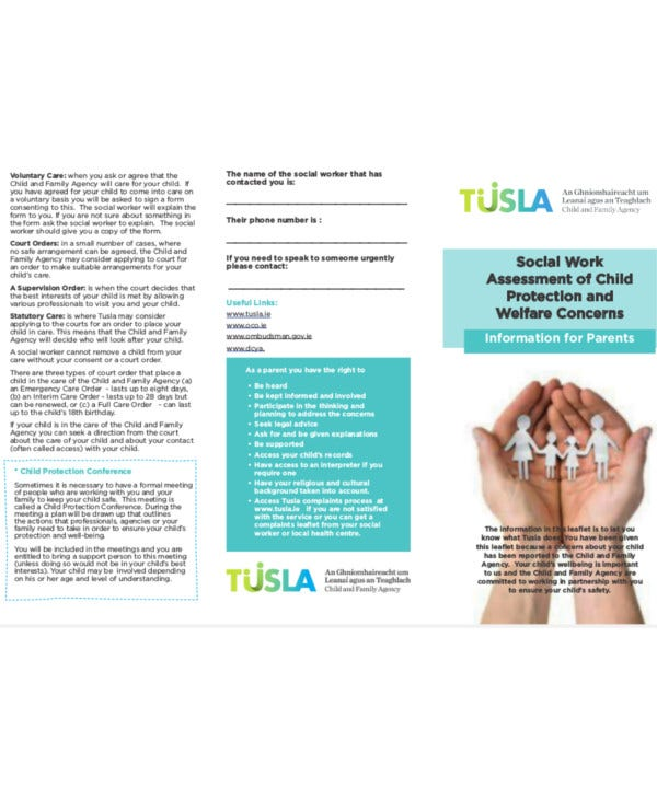 Social Work Assessment of Child Protection