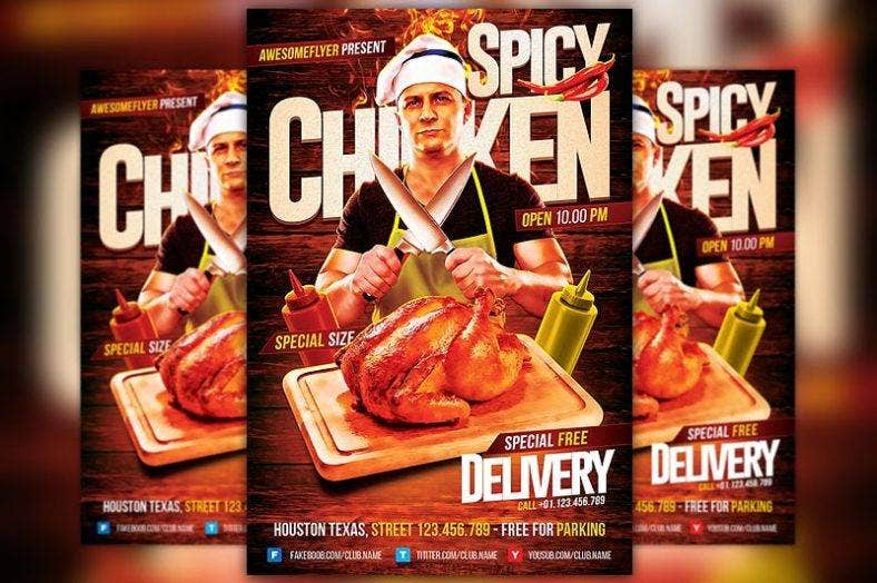 spicy_chicken_restaurant_flyer