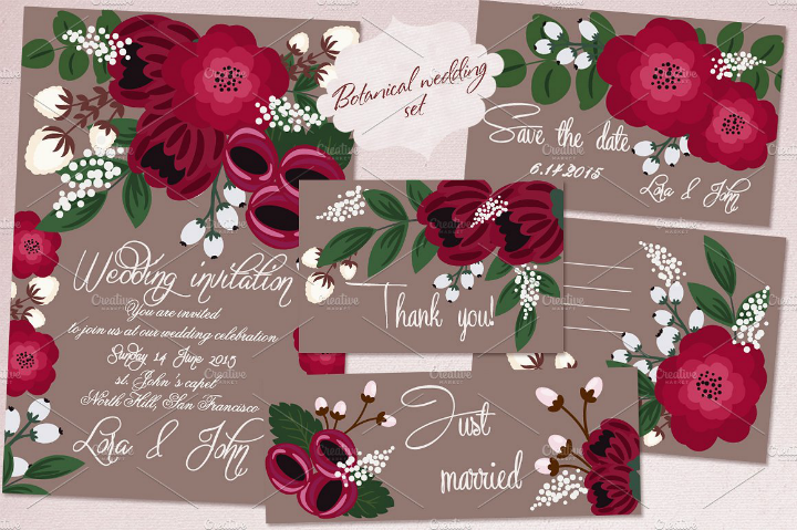 spring-floral-romantic-wedding-template-set