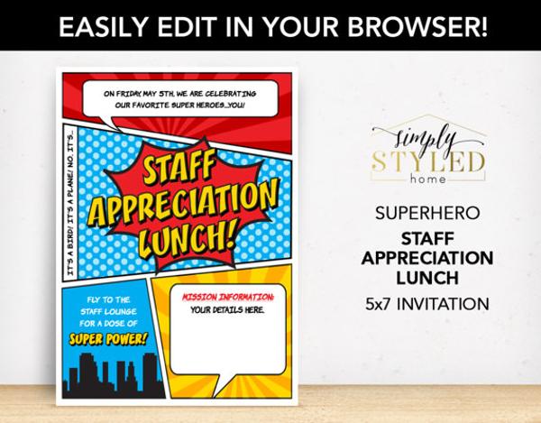 Staff Appreciation Lunch Invitation Template