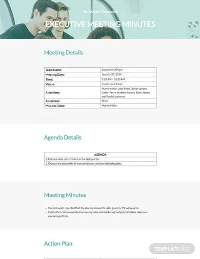 startup business meeting minutes template