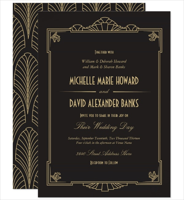 Stylish Art Deco Invitation Template