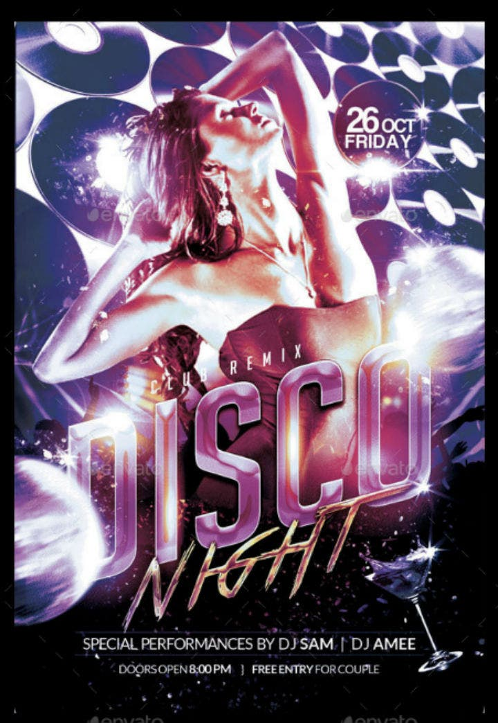 stylish-disco-night-party-invitation-template