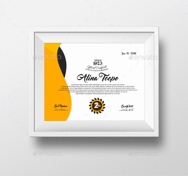 stylish and clean diploma certificate template