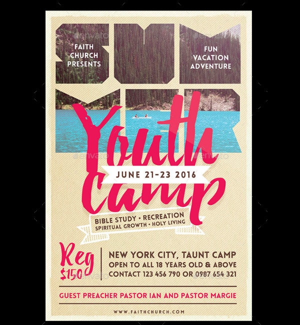 Summer Youth Camp Flyer