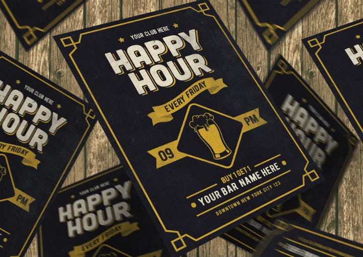 typography-happy-hour-menu-template